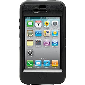 OtterBox Defender Case for iPhone 4 (Black, Retail Packaging, Fits AT&T iPhone)