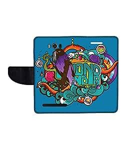 KolorEdge Printed Flip Cover For Asus Zenfone Go 16GB Multicolor - (1478-50KeMLogo10102ZenGo)