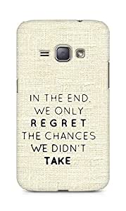 AMEZ we only regret the chances we didnt take Back Cover For Samsung Galaxy J1 (2016 EDITION)