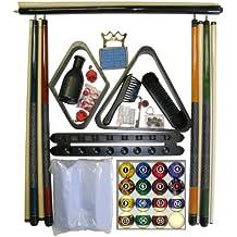 Black Finish Billiard Pool Table Accessory Kit W Dark Marble Style Ball Set