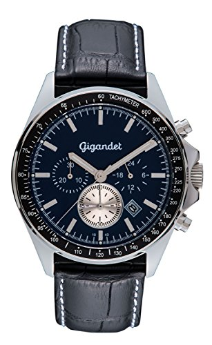 Gigandet VOLANTE Orologio Uomo Cronografo Analogico Quarzo Nero Blu G3-008