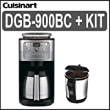 Cuisinart (DGB-900BC) 12 Cup Grind & Brew Coffeemaker (Brushed Chrome) + (E ....