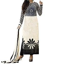 Spider Black Suit Color Cotton Printed Dress Material