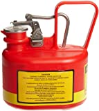Justrite Type I Polyethylene Safety Can with Stainless Steel Fittings and Cover