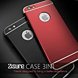 "4.7"" iPhone 6s Case,Ultra Thin Zisure [AirT(Matte)] Slim Fit 3in1 Three Stage Design Simple Style Cellphone Protection Cover for Apple (Black - iPhone 6/6s (4.7""))"