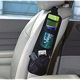 Okeler Black Nylon Auto Car Seat Chair Side Bag Hanging Organizer Storage Multi-Pocket with Free Pen