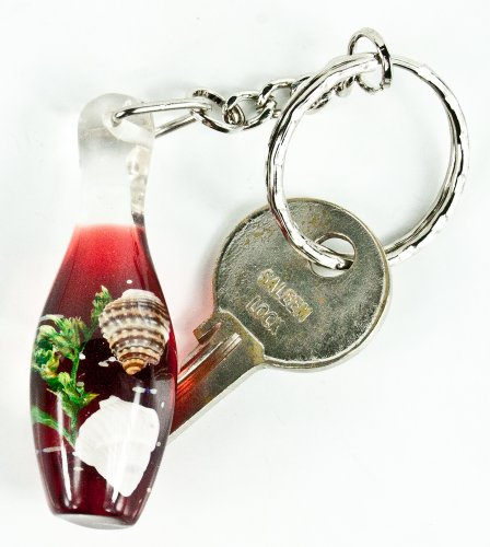 Mens & Ladies RED BOWLING PIN Keychain Ring Keychain Keyring-FREE SHIPPING