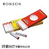 RONSON ロンソン ロンソンフィルター純正スペア(10本入)10箱セット(ショート&スリム用赤箱)