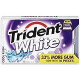 Trident White Sugar Free Peppermint Gum, 16 ct, 9 pk