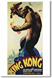 King Kong 1933 Movie Poster - NEW Vintage Reprint Poster