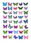 40 x Mixed Butterflies Edible Cake To...