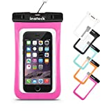 Inateck Waterproof Case Dry Bag for iPhone 6s, 6s Plus, iPhone 6, 6 Plus, 5S, Samsung Galaxy S6, Galaxy Note 4 and More Smartphones with Screen Display Up to 5.7 Inch - Pink