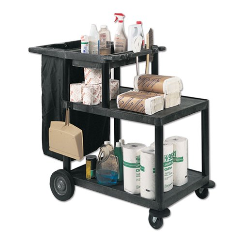 Janitorial Cart w 3 Shelves