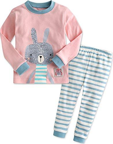 vaenait-baby-kinder-madchen-nachtwasche-schlafanzug-top-bottom-2-stuck-set-pink-bunny-m