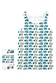 3 Pack Pure Cotton Transport Vests [T71-4033-S]