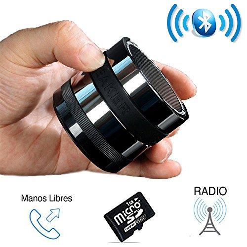 SUPERBASS-Mini-Altavoz-Bluetooth-Porttil-con-Radio-Micrfono-y-lector-de-Tarjeta-MicroSD-Pequeo-Altavoz-Inalmbrico-muy-Potente-con-Manos-Libres-para-Telfonos-Mviles-Tablets-y-Ordenadores-Compatible-con