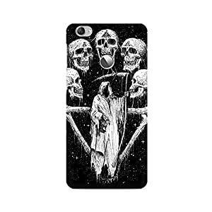 Mobicture Skull Art Premium Printed Case For LETV 1S/LeEco 1S
