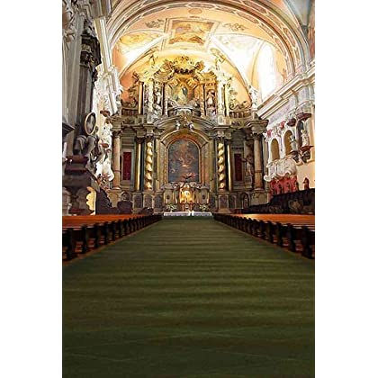 Church Hall 5' x 7' CP Backdrop Computer Printed Scenic Background discount price 2015