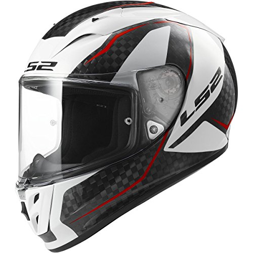 LS2 Helmets Arrow Carbon Fury Full Face Motorcycle Helmet (White, Large) (Full Face Carbon Helmet compare prices)