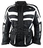 1152 Bangla Motorradjacke Tourenjacke Cordura600 schwarz-weiss 4XL