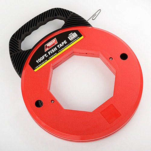 2 100 Ft Fish Tape Electrican Reel Pull Wires Cable Steel Hand Puller Ate Tools