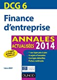 Fabrice Briot DCG 6 Finance d'entreprise : Annales