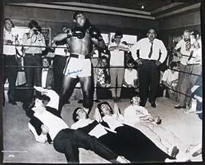 Muhammad Ali Autographed HUGE oversized Ali vs. The Beatles Photograph