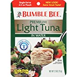 Bumble Bee Chunk Light Tuna In Water, 2.5-Ounce Pouches (Pack of 12)