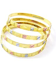 Peach & Glory Gold Plated Bangles For Women SIZE 2.6 (B366-26)