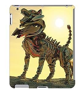 Fuson 3D Printed Fantasy Fox Designer Back Case Cover for Apple iPad 6 - D1058