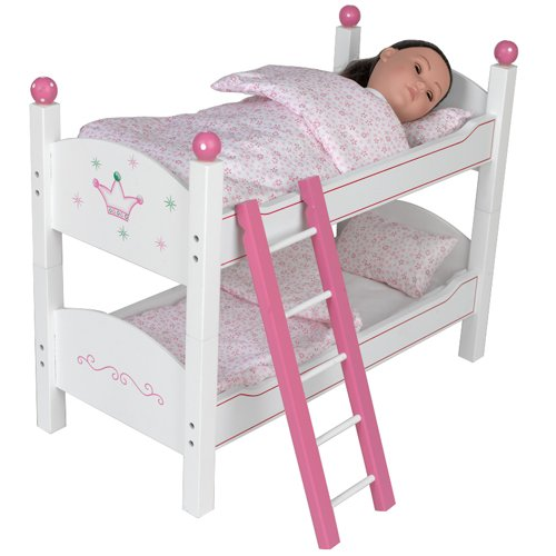 "Bunk Bed Dolls: Wooden Bunk Bed 18"" Doll American Girl McKenna Kanani"