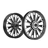 Kingway JS2M Zipp Bike Alloy Wheel Set of 2 19/19 Inch Black-Royal Enfield Electra Delux