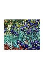 ARTE E TESSUTI by MANIFATTURE COTONIERE Panel Decorativo Van Gogh-Iris (Morado/Verde Agua)