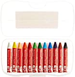 Faber and Castell 12 Count Brilliant Beeswax Crayons in Storage Case