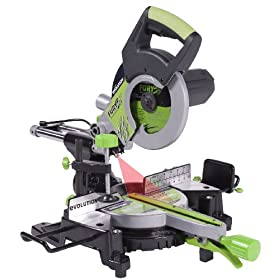 Evolution Power Tools FURY3 8-1/4-Inch Multipurpose Cutting Compound Sliding Miter Saw