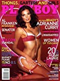 Playboy Magazine (Contents Image) February 2006 Thongs Garters and Girls, Al Franken, Adrianne Curry, Tuscany, Hugh Laurie (Volume 53 Number 2)