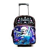 Disney Frozen Elsa Large Rolling Backpack Bag Luggage Tote