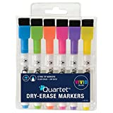 Quartet Dry Erase Markers, ReWritables, Fine Point, Low Odor, Mini, Magnetic, Assorted Vivid Colors, 6 Pack (51-661142Q)