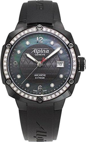 Alpina Geneve Avalance Extreme Ceramic AL-240MPBD3FBAEDC6 Reloj de Pulsera para mujeres con diamantes genuinos