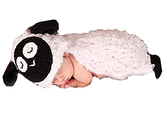 Amazon.com: Pinbo Baby Girls Boys Crochet Sheep Lamb Hat Cover Costume Photography Props: Clothing