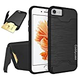 iPhone 7 Case,iPhone 7 Cases,iPhone 7 Cover,Coddycase Protective Card Slot Holder Hybrid Cover with Kickstand for iPhone 7 (2016)-Black