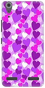 The Racoon Grip Purple Heart Rain hard plastic printed back case / cover for Lenovo A6000
