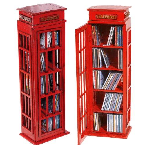 cd rack telefonzelle regal aufbewahrung schrank. Black Bedroom Furniture Sets. Home Design Ideas