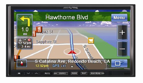 Alpine Iva-Nav-10C 7-Inch All-In-One Double-Din In-Dash Av Receiver With Bluetooth And Navigation