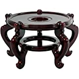 Oriental Furniture Rosewood Fishbowl Stand - Size 15.5 in. Base Diameter