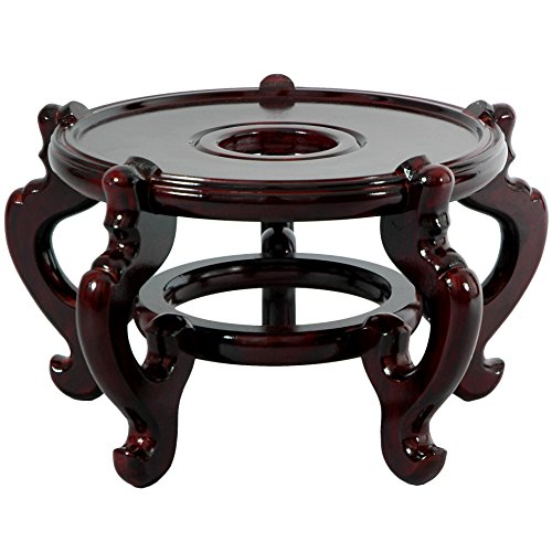 Oriental Furniture Rosewood Fishbowl Stand - Size 9.5 in. Base Diameter (Rosewood Stand compare prices)