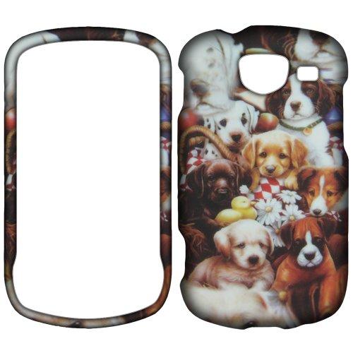 Samsung Brightside U380 (Verizon Wireless) Cute Puppies Skin Hard Case/Cover/Faceplate/Snap On/Housing/Protector