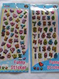 2 x sheets colourful letters & numbers alphabet Puffy 3D style decal re-usable stickers for Craft Kids Scrap Books Birthday Cards - By Fat-Catz