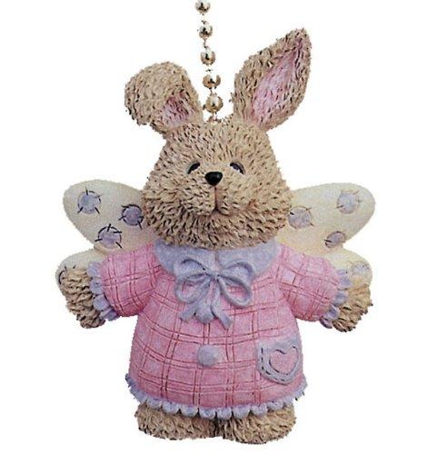 Angel Wings Bunny Rabbit Kids Room Ceiling Fan Light Pull front-41119