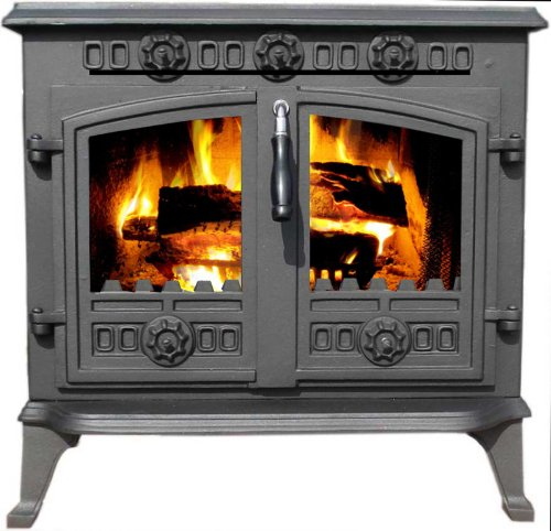 Vortigern 12kW CAST IRON WOODBURNING MULTIFUEL STOVE V006 - genuine CE certificate issued in the UK.